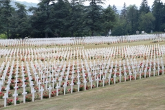 Douaumont Ossuary.  These are some of the 13,000 graves at Douaumont French Military Cemetery.  The French people truly have not forgotten.