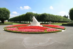 St. Mihiel:  Beautiful landscaping adorns the St. Mihiel American Military Cemetery in the Lorraine region of France.